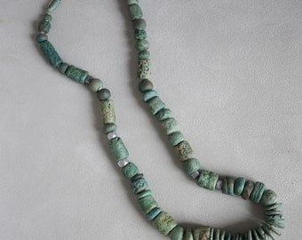 Vintage Artist Made Ceramic Beaded Necklace
