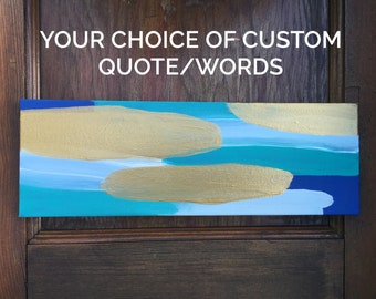 Custom Quote Canvas // Made to Order & Customizable