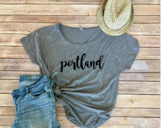 Portland Dolman - Keep Portland Weird - Triblend Tee - Women's Clothing - Women's Shirt - PNW - Mother's Day Gift - Oregon - Gift for Her