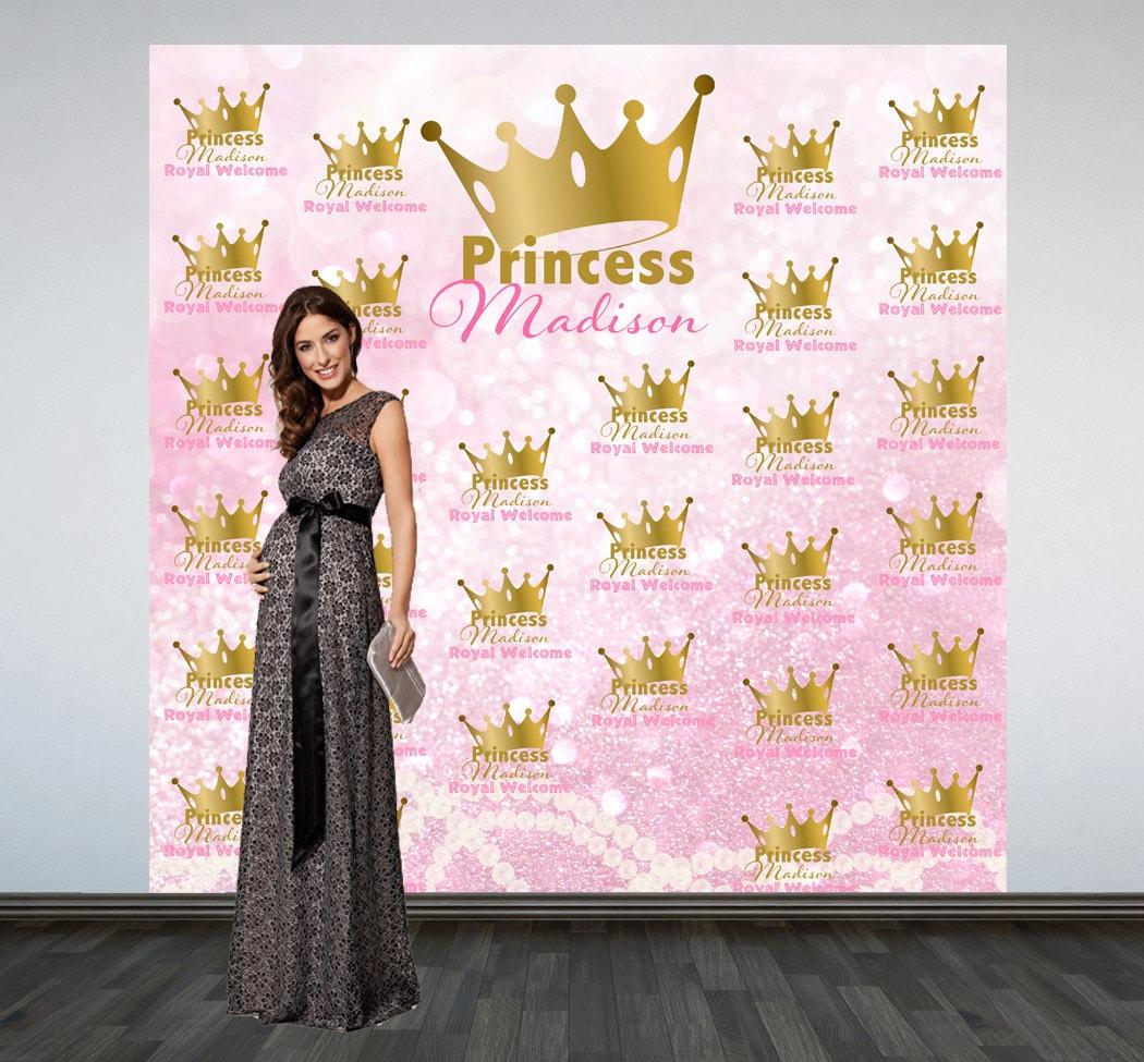 royal princess baby shower backdrop welcome princess photo