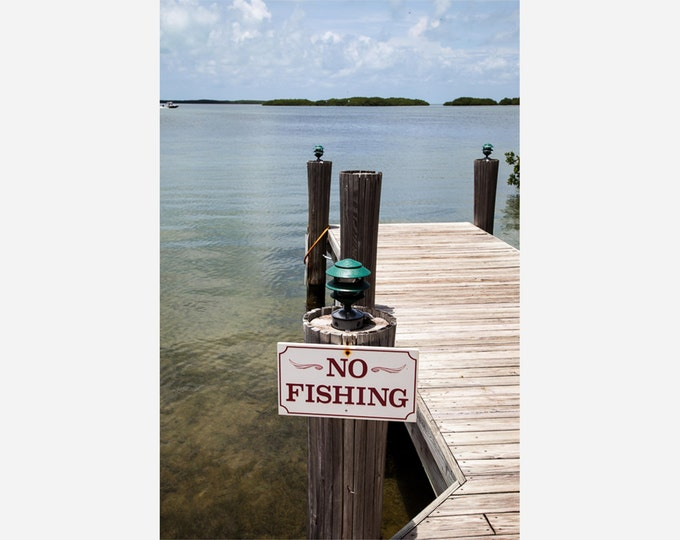 NO FISHING | modern fine art photography blank note cards custom books interior wall decor affordable pictures –Rick Graves Spring Green WI