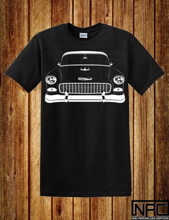 55 Chevy T Shirt Bel Air Hardtop Sedan 210 Nomad
