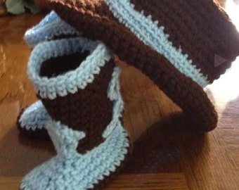 Cowboy hat and boots  set