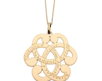 Gold plated custom woman arabesque necklace