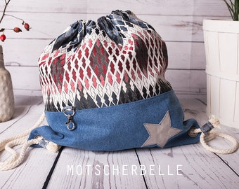 Backpack Jeans, Bag, Sac Canvas and Jeans