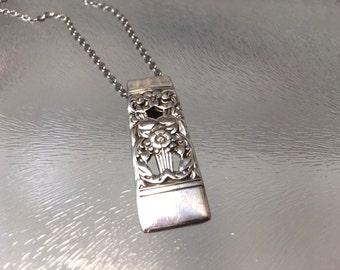 Spoon pendant. Coronation silverware pendant, Coronation spoon pendant, vintage flatware, spoon necklace, silverware jewelry, spoon jewelry