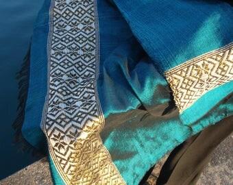 Women Turquoise Blue Shawl/Blue Large Shawl/Large Shawl/scarf ethiopia/scarf