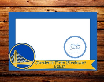 Golden State Warriors Photo Booth Prop Frame (DIGITAL FILE)
