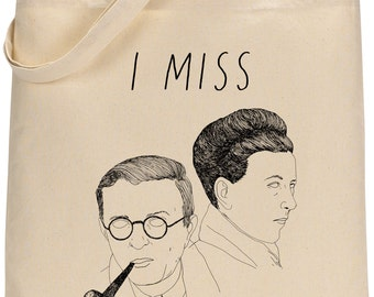 I MISS THE EXISTENTIALISTS tote bag
