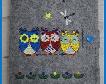 Nut case embroidered popular motif with OWL family,