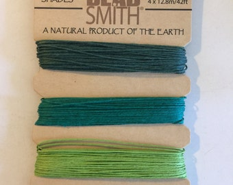 Natural Hemp Cord, 10lb test, Emerald Shades