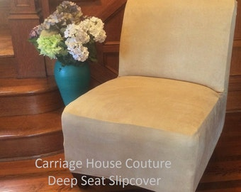 slipcover beige suede chair cover for armless chair slipper chair armless accent chair