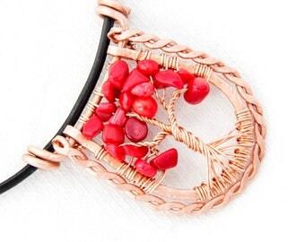 Tree Of Life - Tree Of Life Necklace - Tree Necklace - Tree Life Necklace - Tree Of Life Pendant - Tree Of Life Jewelry - Copper Tree Of Lif