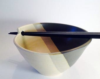 Elegant rice  bowl for pottery lovers