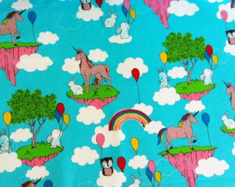 "organic jersey: ""unicorn in the clouds"""