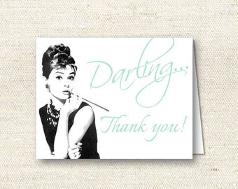 Breakfast at Tiffany's Thank You Card | INSTANT DOWNLOAD