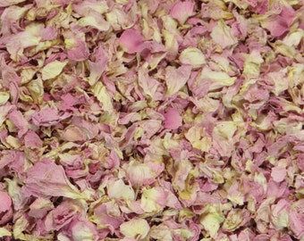 1L Pastel Pink Natural Rose Petal Confetti