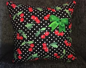 Handmade Cherry Cushion