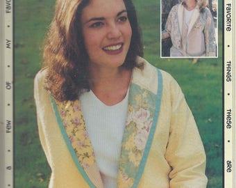 Favorite Things Shawl Jacket pattern V007 - OOP sizes 4-22