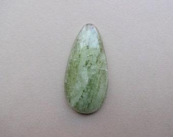 Green sheen Apatite cabochon 42x21 mm