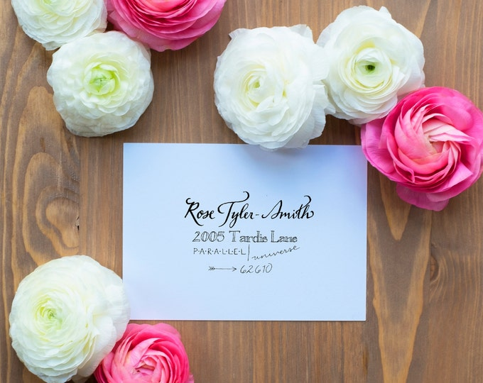 Hand-Addressed Calligraphy Invitation - Affordable - Wedding - Party - Parea