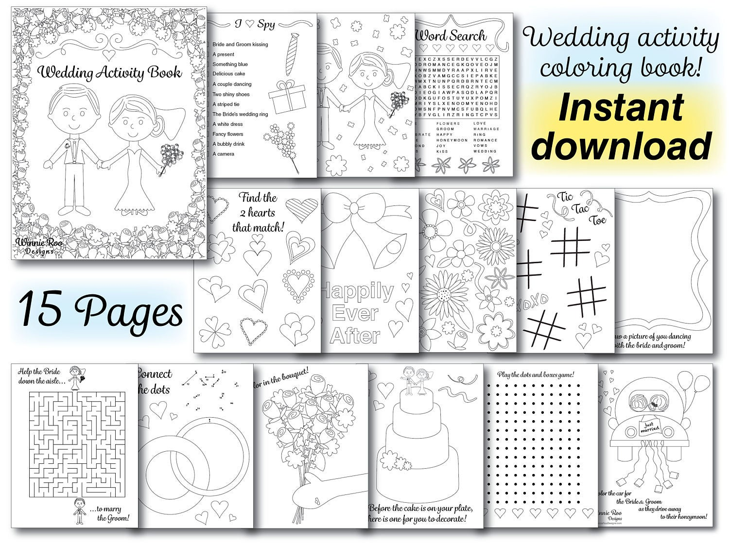 It's just an image of Nifty Printable Wedding Activity Book