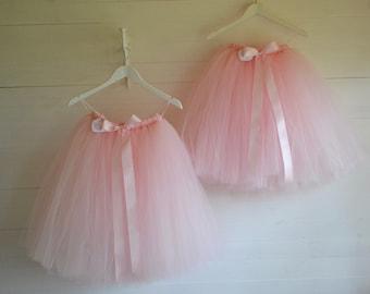 Pink Girls tutu, Flower Girl tutu pale pink tutu skirt, tutu skirt ballet tutu, tulle skirt, tutu skirt, baby tutu, wedding tutu, tutu dress