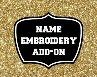Embroidery name add-on, add your name to your leotard, gymnastics leotard personalized, customize it, add-on, athelchik, personalization