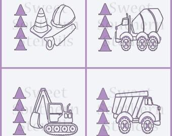 Construction PYO Cookie Stencils (4 separate stencils)