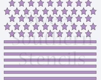 Stars and Stripes 2 in 1 Cookie Stencil