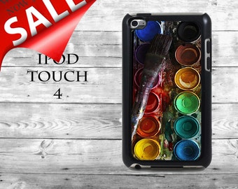 Fun watercolors with brush - SALE iPod Touch 4G case - watercolor set water colors box phone iPod Touch case,  iPod cover