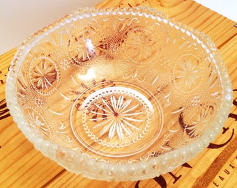 Vintage Set of 4 Concord Pattern Brockway Glass Bowls, MINT CONDITION, c. 1960's