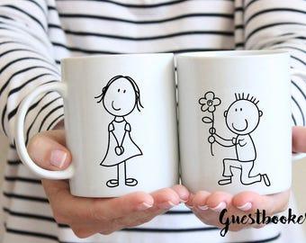 Bride And Groom Mugs - His And Hers Mugs - Matching Mugs - Couples Mugs - Mr And Mrs Mugs - Bridal Mug - Newly Weds Gift - Christmas Gift