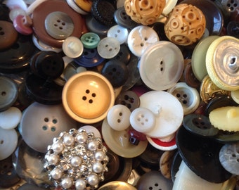 Bulk Buttons Buttons By The Pound Vintage Buttons