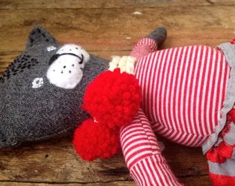 Cat /Cat doll / Wollen cat /Cat soft doll /  Rag doll / Handmade cat / Ooak doll / Soft doll / Handmade doll/ Grey cat / Primitive rag doll
