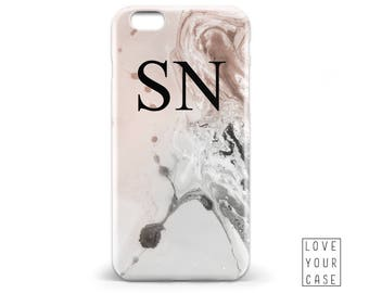 1463 // Marble Texture Monogrammed Initials Name Phone Case iPhone 5 5S 6 6S,Samsung Galaxy S5 S6, Samsung Galaxy S7 Edge Plus