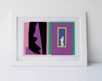 Matisse Printable art poster, Matisse Printable, MAtisse Poster, Minimalist Print, Minimal art, Modern art