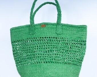 MSITU: Open Weave Green Shopper