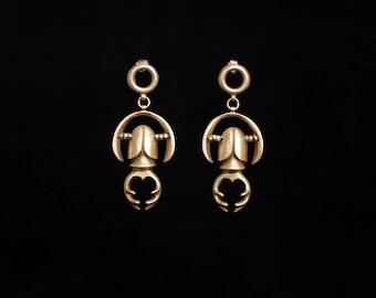LUCANIA earrings : modern bronze earrings