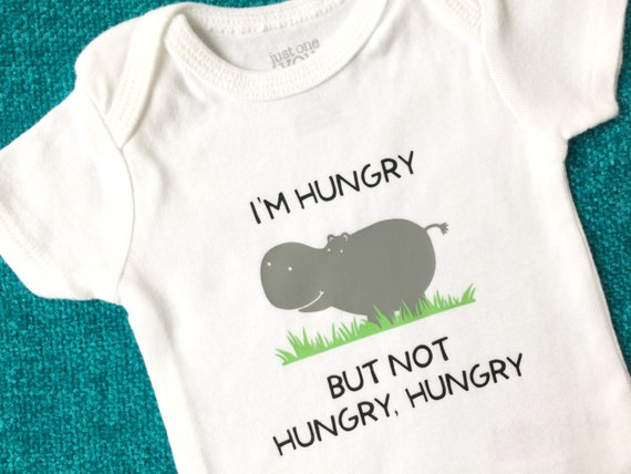 Gender Neutral Baby Clothes Hungry Hippo Bodysuit by