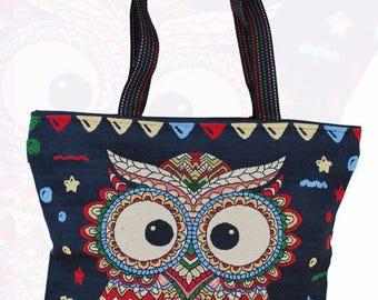 OWL Tote Messenger Shoulder Shopping Bag Hippie Boho Gypsy Ethnic