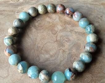 Aqua Terra Jasper and Aventurine Grounding Bracelet