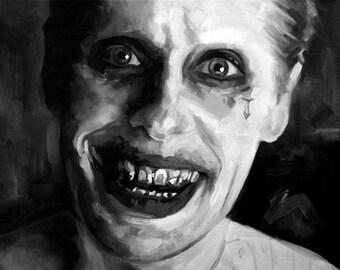 Jared Leto Fine Art Print (The Joker - Suicide Squad - DC - Batman - Comicbook - DCEU - Joker&Harley - Superhero - Art - Icons - Portrait)