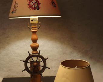 Vintage ships ahoy lamp