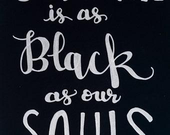 "Restaurant A-Frame Sign ""Black Soul Coffe"" / Personalize"