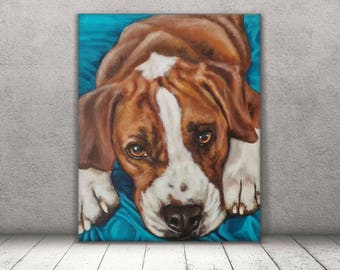 Custom Pet Portrait, Personalized Pet Portrait, Commissioned Dog Portrait, Custom Pet Painting, Gift for Him, Pet Portrait Custom, Close Up