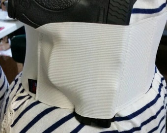 Ladies Womens Concealed Carry Waistband Gun Holster, Belly Band - Made In USA! Black or White - Summer Sale - Free Shipping in the USA