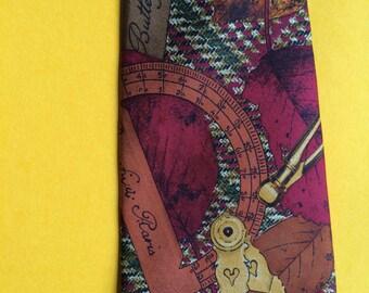 Fall Necktie,Autumn Necktie,Leaf Necktie,Brown Print Necktie,Brown Design Necktie,Brown Pattern Necktie,Rust Pattern Necktie,Rust Print Tie