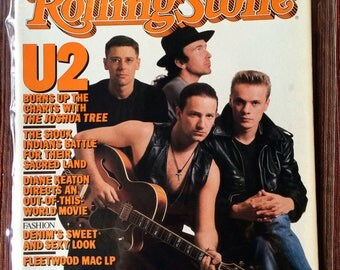 U2,Bono,U2 Magazine,70s Rock,U2 Lover,U2 Gift,U2 Fan,Irish Rock Music,U2 Collectible,Rolling Stone Magazine,80 Magazine,Issue 499,70s Music