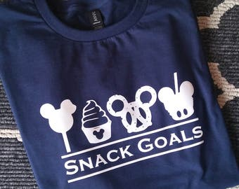 Snack Goals Tshirt - Disney World Disneyland Inspired